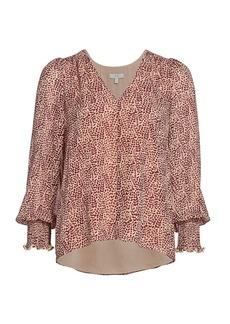 Joie Bolona Silk Puff-Sleeve Blouse