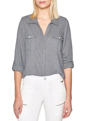 Joie Booker Mini Check Button-Down Shirt