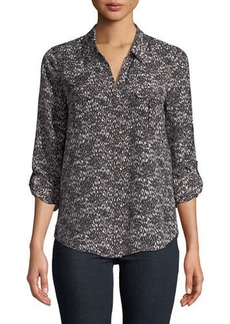 Joie Booker V-Neck Printed Blouse