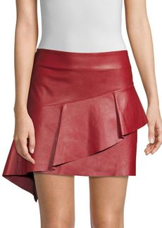 Joie Botan Leather Mini Skirt