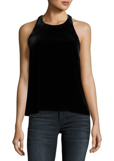 Joie Brighton Sleeveless Velvet Racerback Top