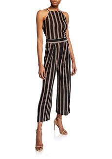 Joie Briselle Striped Self-Tie Back Jumpsuit