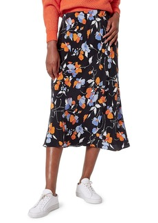 Joie Brystal Floral Silk Slip Skirt