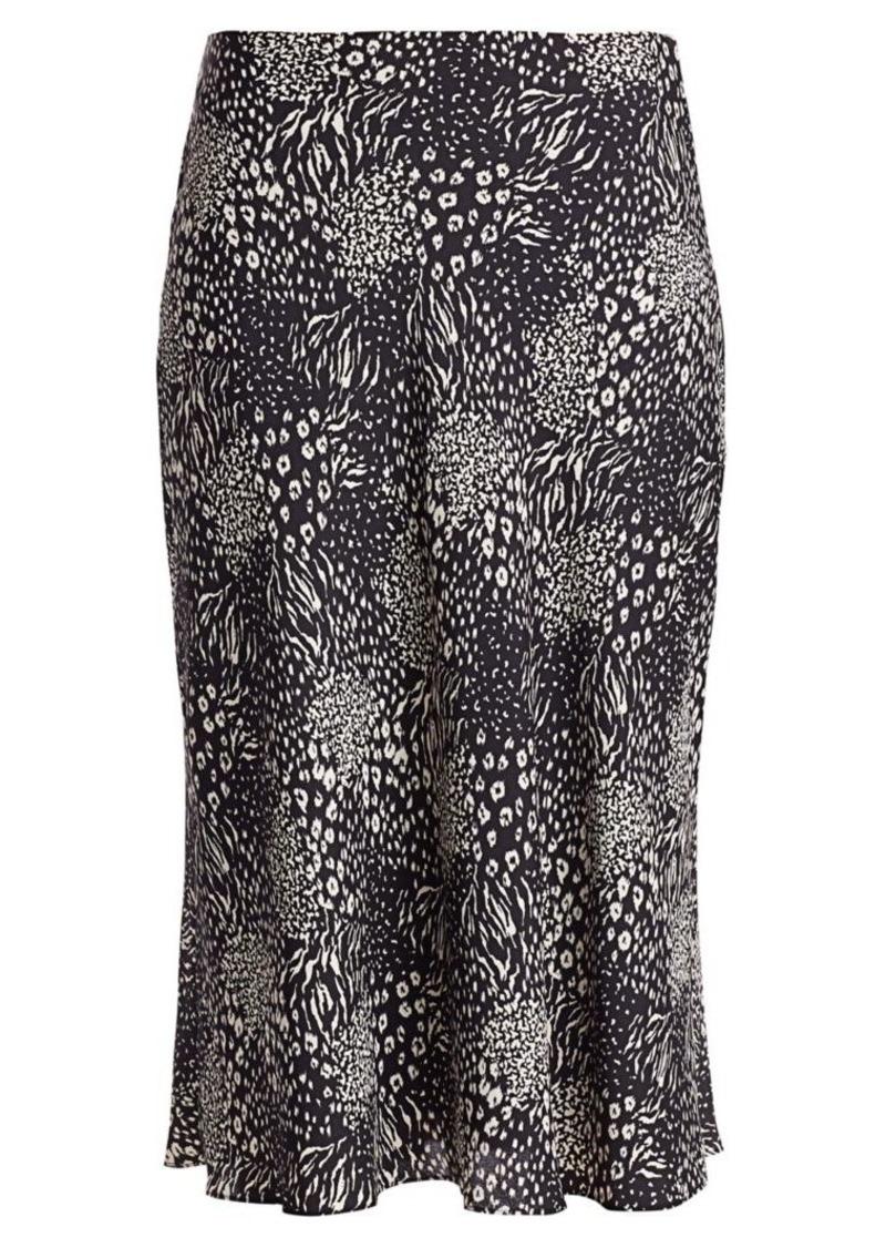 Joie Brystal Print Flounce Skirt