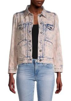 Joie Button-Front Denim Jacket