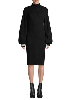 Joie Cable-Knit Cotton & Cashmere-Blend Sweater Dress