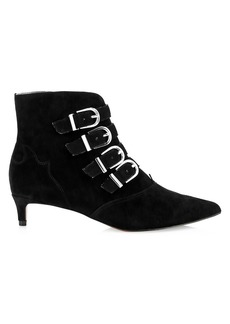Joie Calinda Buckle Suede Ankle Boots
