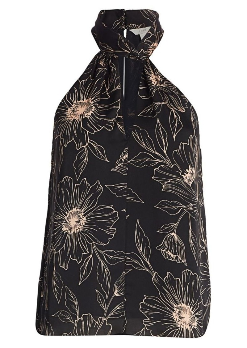 Joie Cedra Floral Keyhole Halter Top