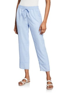 Joie Ceylon Cornflower Cropped Straight-Leg Pants