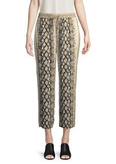 Joie Ceylon Snake Print Crop Pants