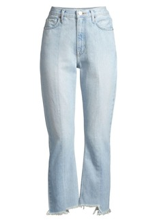 Joie Charan Step-Hem Frayed Jeans