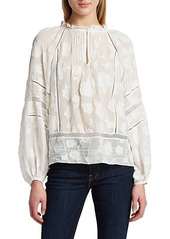 Joie Chaylse Textured Floral Blouse