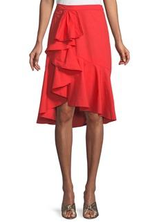 Joie Chesmu Poplin Ruffle Skirt