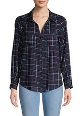 Joie Classic Plaid Button-Down Shirt