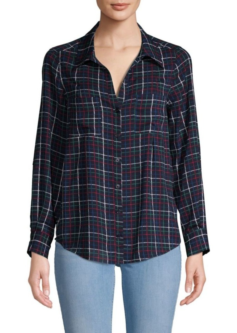 Joie Classic Plaid Button-Down Shirt