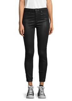 Joe's Jeans Coated High-Rise Ankle Skinny Jeans