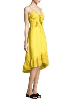 Joie Clorinda Cutout Poplin Dress