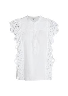 Joie Coralia Crochet Ruffle Top