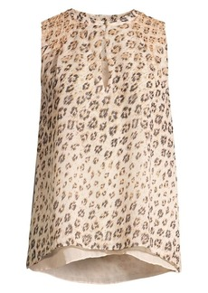Joie Corie Leopard Sleeveless Top