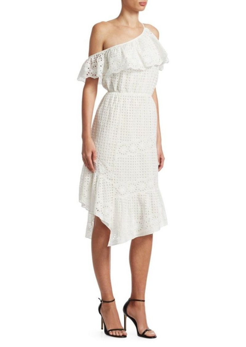 Joie Corynn Ruffled Eyelet Dress