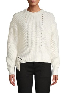 Joie Cotton-Blend Tassel Sweater