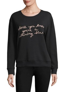 Joie Cotton Embroidered Sweatshirt