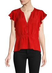Joie Crisbell Button-Front Blouse