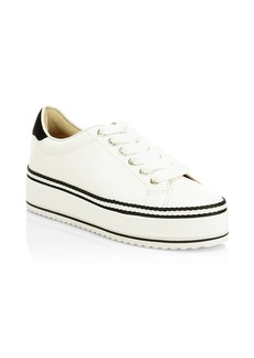 Joie Dabnis Leather Flatform Sneakers