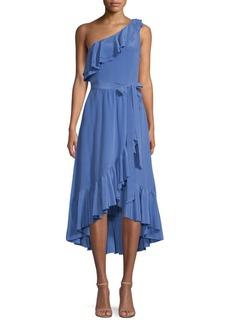 Joie Damica Asymmetrical Silk Wrap Dress