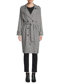 Joie Damonica Checker Trench Coat