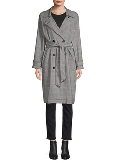 Joie Damonica Plaid Trench Coat