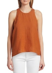 Joie Dany Split-Back Linen Top