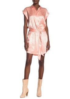 Joie Daran Jacquard Leopard Print Satin Shirt Dress