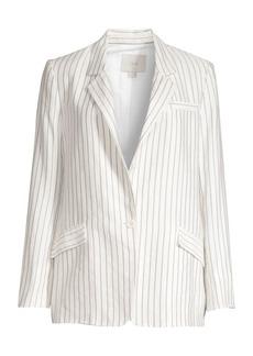 Joie Darryl Striped Single-Breasted Blazer