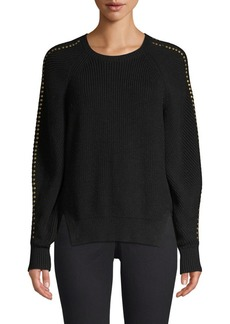 Joie Daxton Studded Knit Pullover