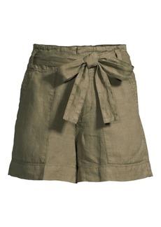 Joie Daynna Linen Tie-Waist Shorts