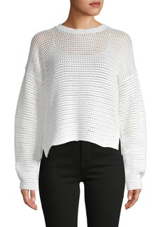 Joie Diza Open-Weave Cotton Sweater
