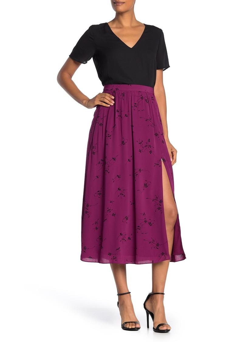 Joie Duffy Floral Slit Midi Skirt