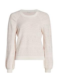 Joie Dulcia Laurel Lace Textured Sweater
