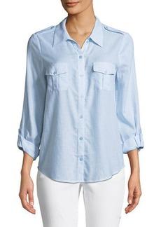 Joie Dumas Pinstriped Button-Front Shirt