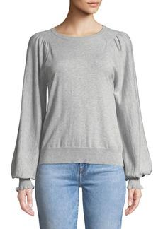 Joie Edenka Blouson-Sleeve Sweater