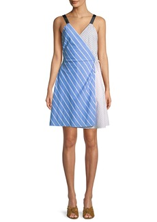 Joie Editha Striped Sleeveless Wrap Dress