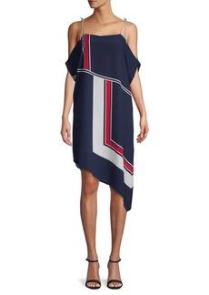 Joie Edyte Cold-Shoulder Tie Scarf Dress