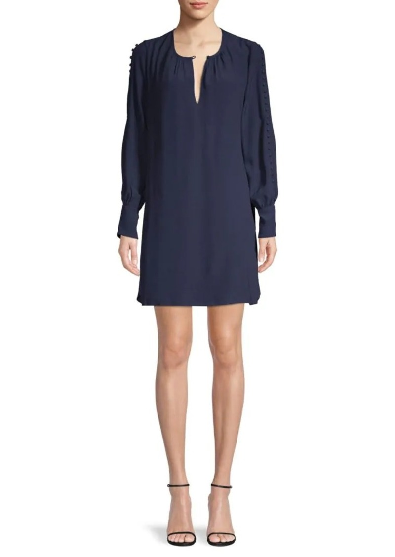 Joie Erlene Button-Accent Dress