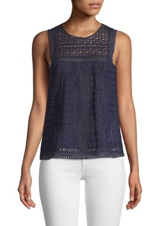 Joie Esrel Eyelet Sleeveless Top