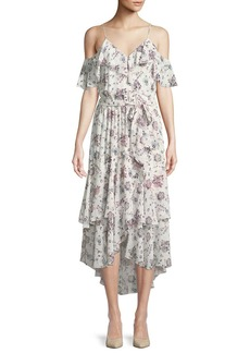 Joie Estilda V-Neck Sleeveless Ruffled Floral-Print Dress