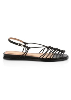 Joie Estin Knotted Leather Slingback Sandals