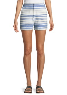 Joie Eudocia Striped Cotton Shorts