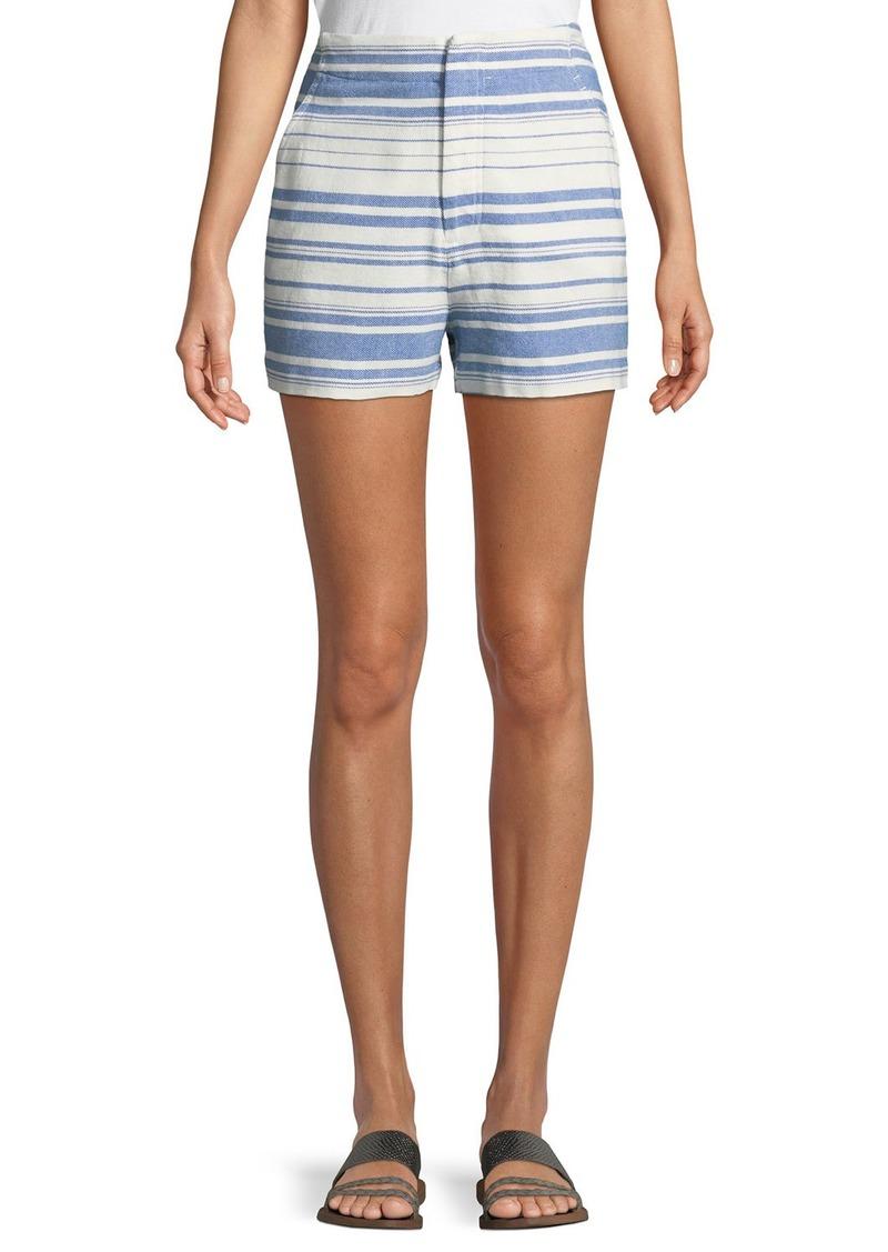 Joie Eudocia Striped Cotton Shorts