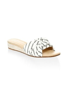 Joie Fabrizia Stripe Wedge Sandals